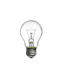 Incandescent light bulb i on white background