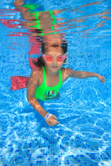 Girl in swimming pool