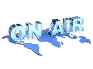 ON AIR pictogram with map