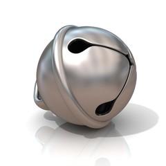 Sleigh bell, 3D render illustration, isolated on white