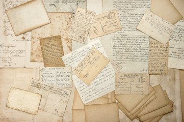 old letters, handwritings, vintage postcards, ephemera