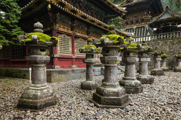 stone lanterns at Nikko Tosho-gu shrine