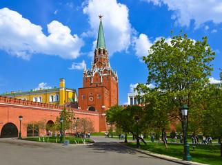 Alexandrovsky garden in Kremlin - Moscow Russia