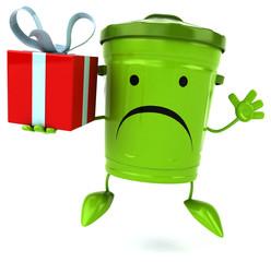 Green trash