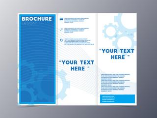 blue design brochure template vector