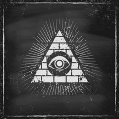 Pyramid with eye