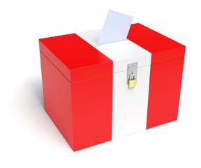 Peru Flag Ballot Box