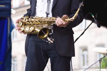 Saxofon Spieler