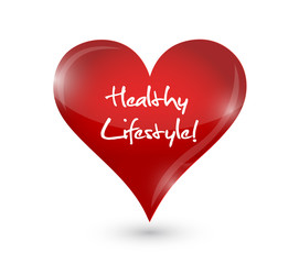healthy lifestyle heart illustration