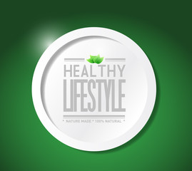 healthy lifestyle natural food illustration