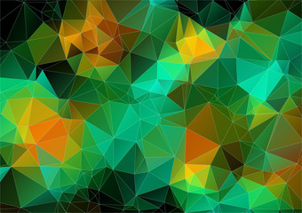 Orange green bright abstract triangle image