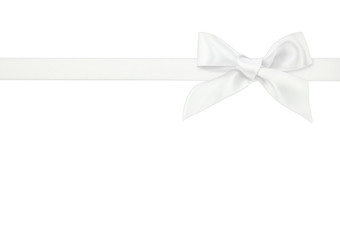white ribbon on white background