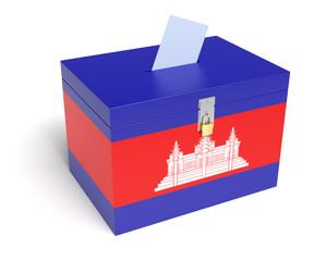 Cambodian Flag Ballot Box