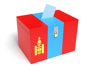 Mongolian Flag Ballot Box