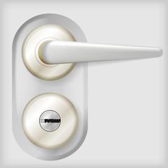 Illustration of door handle.