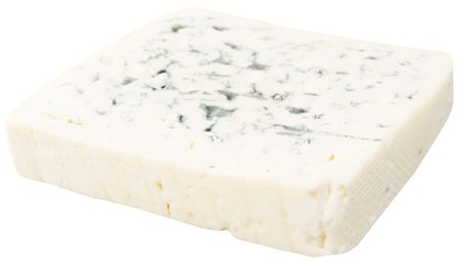 a piece of swiss cheese isolated