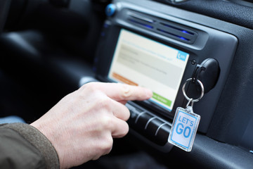 Eingabe in Fahrzeugsystem