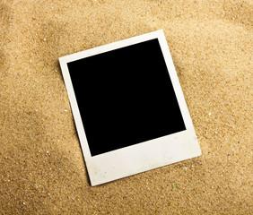 Empty photo on background beach sand