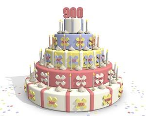 Foto auf Acrylglas Bäckerei Taart met cijfer 900