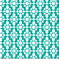 blue moroccan pattern