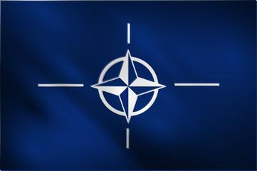NATO waving flag vector