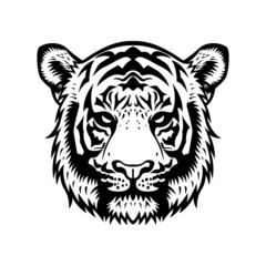 Tiger Head BW