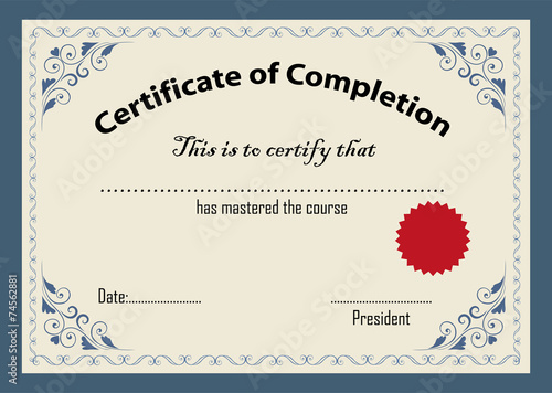 Commendation Certificate Template