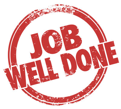 Job Well Done Stamp Words Task Performance Review