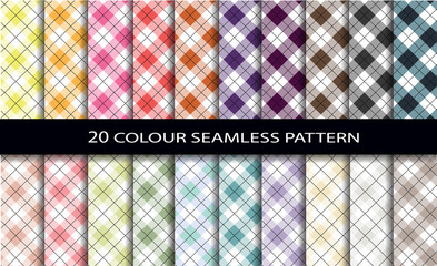 20 color seamless patterns