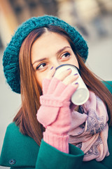 Young Female Drinking Coffee