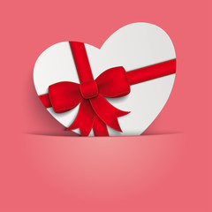 Heart Gift Pink Background