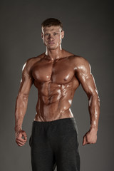 Strong Athletic Man Fitness Model Torso