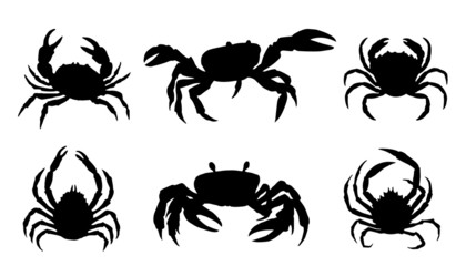 crab silhouettes