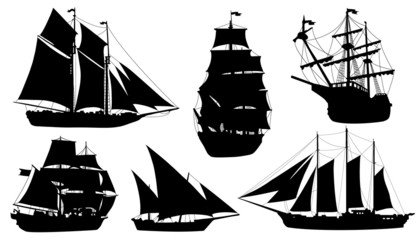 sailboat silhouettes