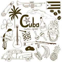 Collection of Cuban icons