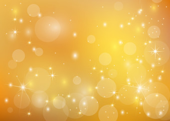 Beautiful  bright golden  holiday background