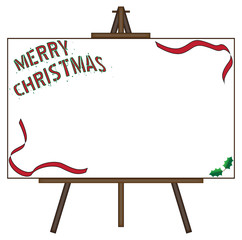 Christmas Giant Blank Canvas on Easel