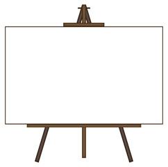 Giant Blank Canvas on Easel