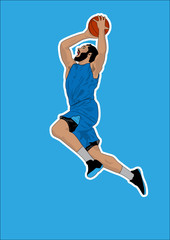 basketball player shadow Silhouette