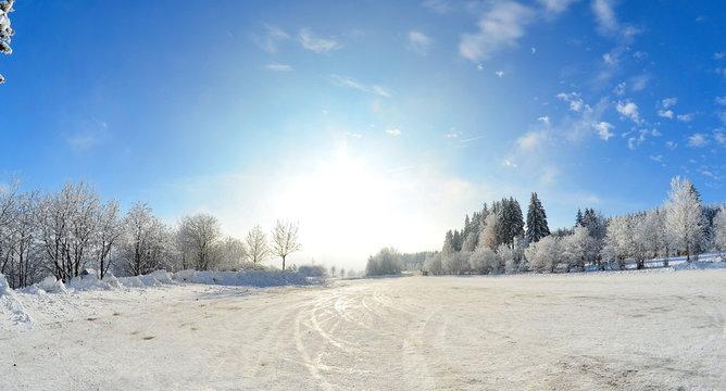 Winterlandschaft Schnee Wald