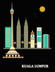 Kuala Lumpur city. Vector