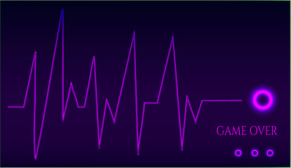 Game over - ekg graph