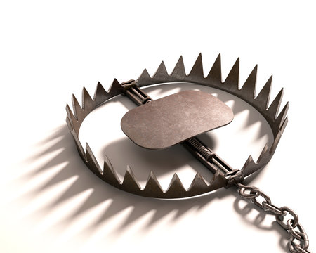 Bear Trap. Clipping path included.