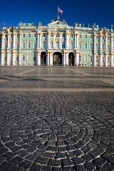View of Winter Palace  in Saint Petersburg