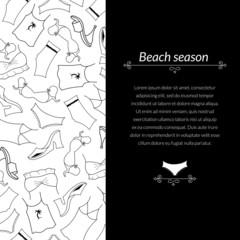 Vector illustration clothes woman