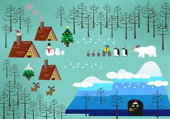 Christmas theme landscape