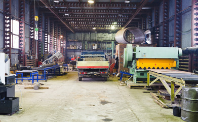 interior of storehouse and mechanical workshop