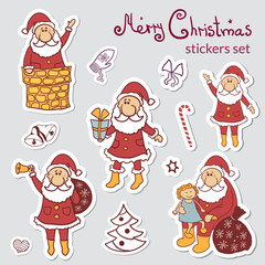 Set of Christmas stickers