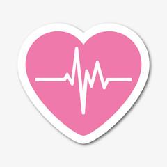 Logo électrocardiogramme.