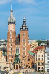 Foto op Aluminium Krakau St. Mary's Church in a historical part of Krakow